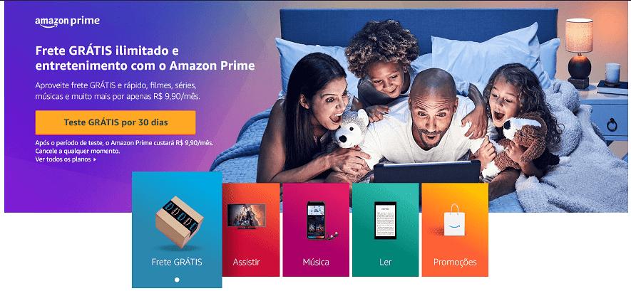 Aloque corretamente seu tempo para o lazer também: teste o Amazon Prime de graça!