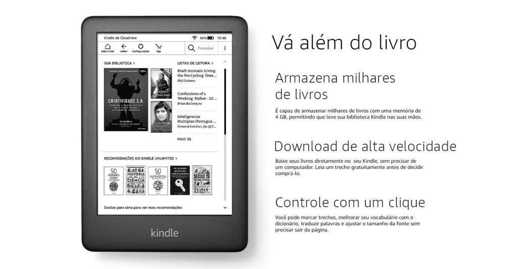 Que tal experimentar um Kindle? Veja suas vantagens e desvantagens em relação ao tablet e livros físicos.