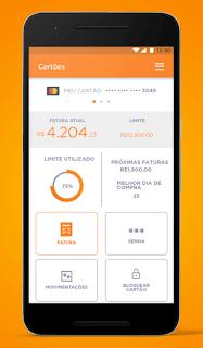 App do cartão de crédito do banco Inter