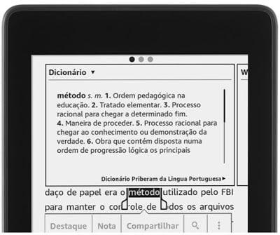 Dicionários e Wikipedia: fácil acesso no Kindle