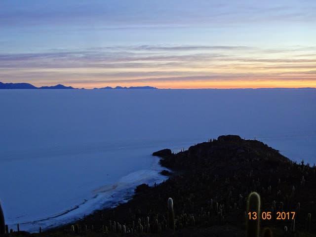 Ilha Incahuasi, no meio do Salar de Uyuni