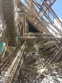 Torre Eiffel, Paris, sob um ângulo diferente