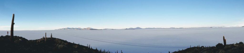 Vista panorâmica do Salar de Uyuni