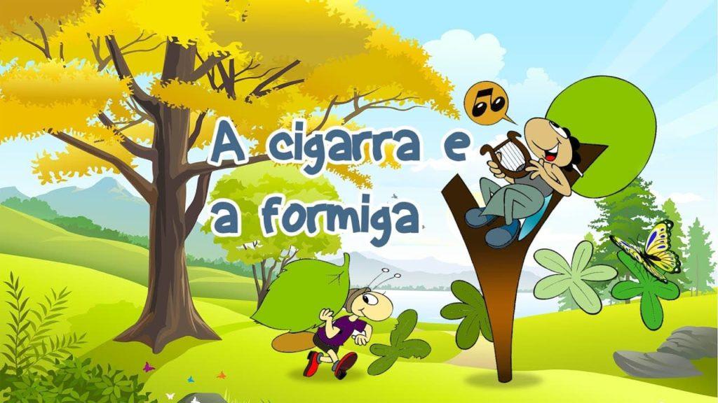 A cigarra e a formiga, fábula de Esopo