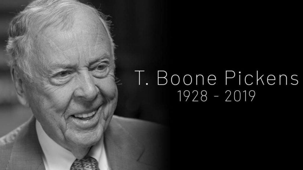 Veja as últimas palavras em carta póstuma do bilionário T. Booney Pickens