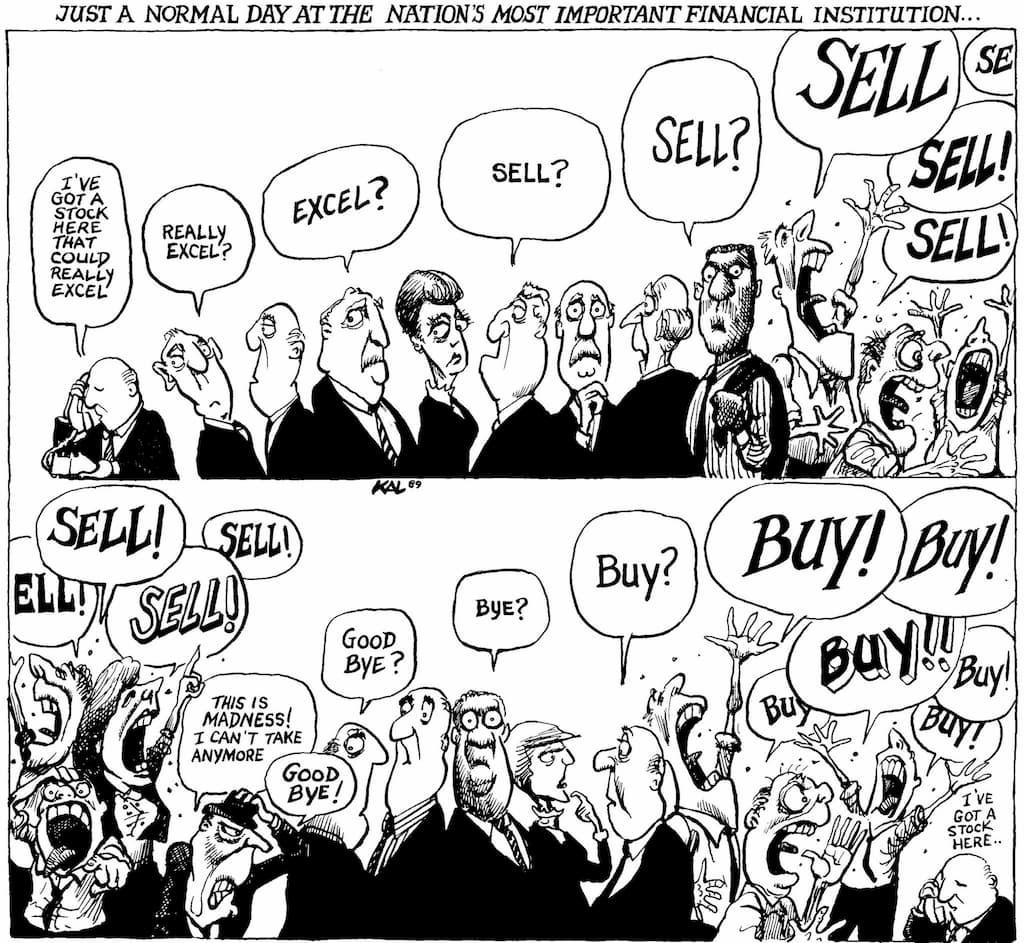 Mercado financeiro: excel, sell, good bye, buy (finanças comportamentais)